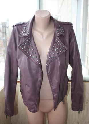 Куртка курточка кожзам цвета марсала2
