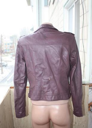 Куртка курточка кожзам цвета марсала3