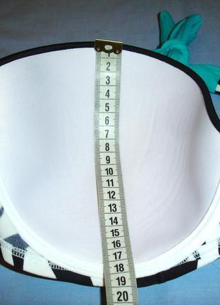 Купальник раздельный черный чашка 80 dd размер 50 / 16 принт зебра дд этно бирюзовый5