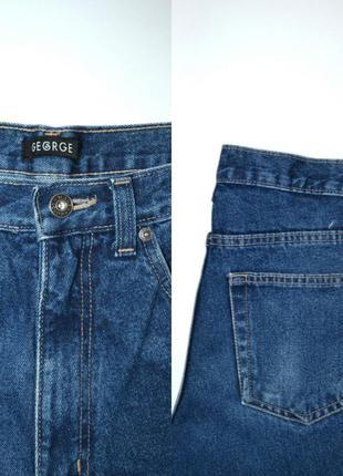 Джинсы момы высокая посадка винтаж мом mom jeans george.4 фото