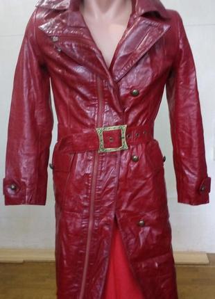 Кожаное пальто jaris/fur & leather