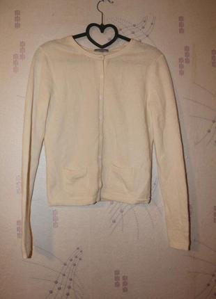 Кашемировая кофта свитер на пуговки maddison 100% кашемир