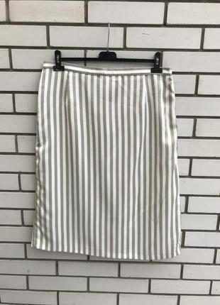 Красивая юбка-карандаш в полоску,винтаж,полиэстер+вискоза, marks & spencer