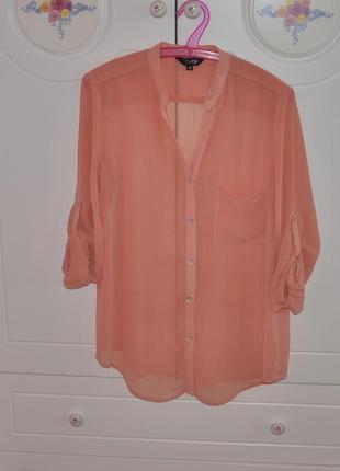 Рубашка блузка шифоновая р. m - l