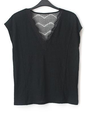 Очень красивая футболка с кружевом monsoon • р-р l2