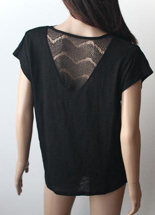 Очень красивая футболка с кружевом monsoon • р-р l3
