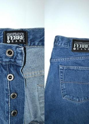 Джинсы момы бойфренды  высокая посадка винтаж  мом mom jeans gianfranco ferre.3