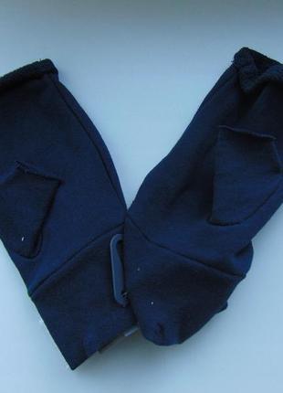 Трикотажные перчатки митенки без пальцев terranova2