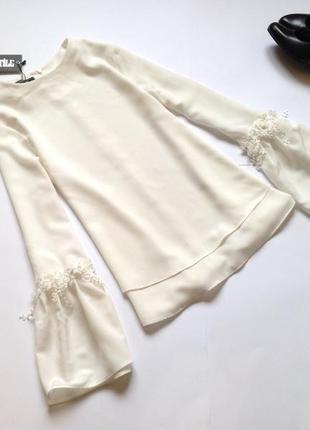 Белая блуза свободного кроя. смотрите мои объявления!1