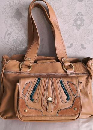 Роскошная кожаная сумка butterfly