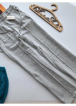 Новые шикарные утеплённые широкие брюки stradivarius pp с-м