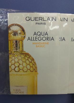 Пробники женских парфюмов guerlain aqua allegoria mandarine