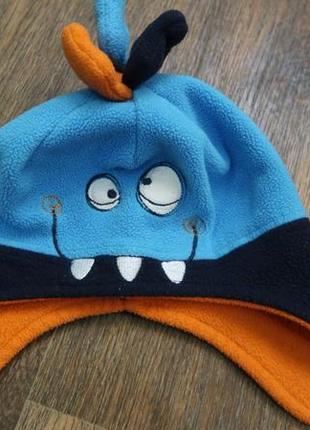 Прикольная флисовая шапка