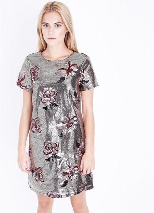 Нереальное вечернее платье в паетках, чехол в цветах new look1