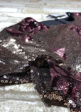 Нереальное вечернее платье в паетках, чехол в цветах new look2