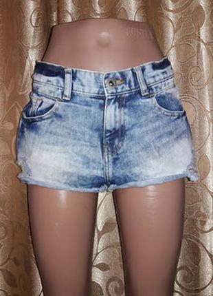 Стильные короткие женские джинсовые шорты denim co2