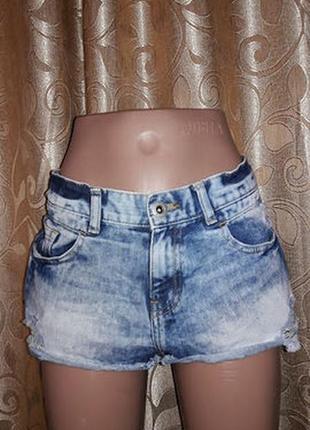 Стильные короткие женские джинсовые шорты denim co1