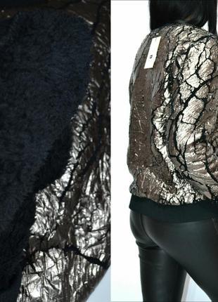 Свитер пайта оверсайз фольга на флисе металлик серебро melting stockholm.4