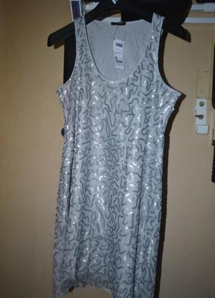 Новое платье в паетках sisley s/m коллекция 2018года
