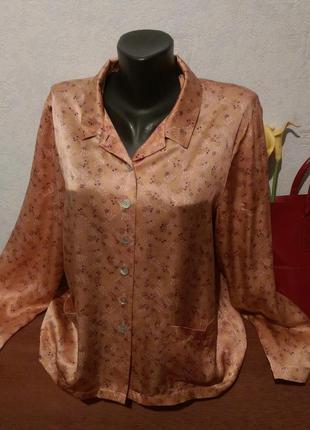 Премиум-бренд,натуральный шелк,пижамная рубашка,princess tam-tam1