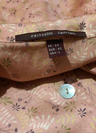 Премиум-бренд,натуральный шелк,пижамная рубашка,princess tam-tam2