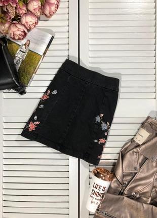 🌿 актуальная, джинсовая мини юбка от topshop