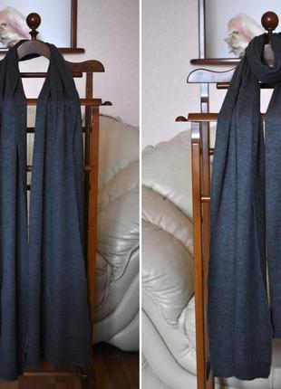 Majestic filatures - премиум коттоновый + кашемировый шарф – 34х238 см4