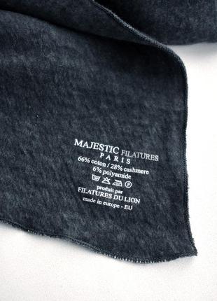 Majestic filatures - премиум коттоновый + кашемировый шарф – 34х238 см5