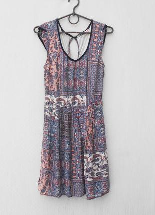 Летнее платье с принтом1