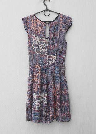 Летнее платье с принтом3
