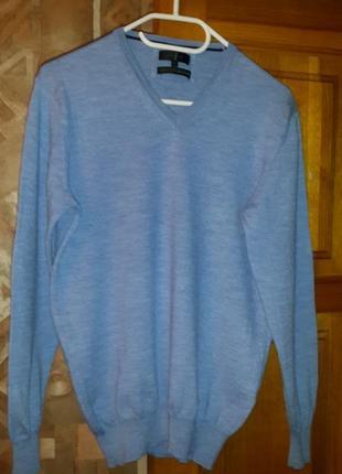 Jasper conran свитер италия джемпер пуловер шерсть меринос 100%  merino wool