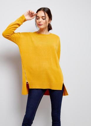 Оверсайз свитер с замками по бокам new look4