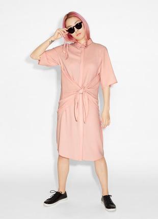 Эксклюзивное платье рубашка оверсайз oversize удлинённая персиковая блуза monki asos