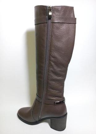 Сапоги высокие кожаные женские зимние на меху37-41 размер2