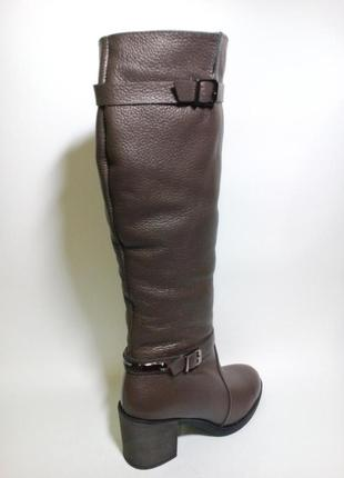 Сапоги высокие кожаные женские зимние на меху37-41 размер3