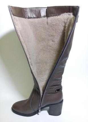 Сапоги высокие кожаные женские зимние на меху37-41 размер4