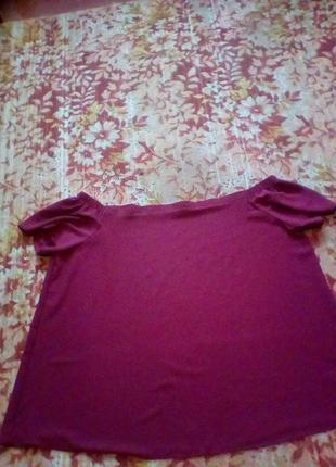 Красивая блуза марсала большой рр.,рр 30 от new look.4