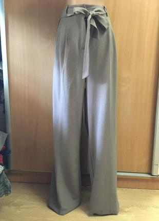 Шикарнейшие брюки палаццо с бантом карманами на высокий рост  размер 121 фото