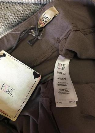 Шикарнейшие брюки палаццо с бантом карманами на высокий рост  размер 124 фото