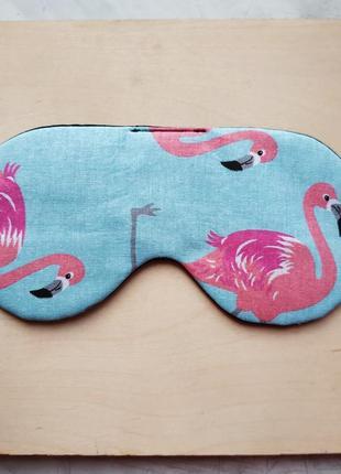 Маска для сна с фламингу