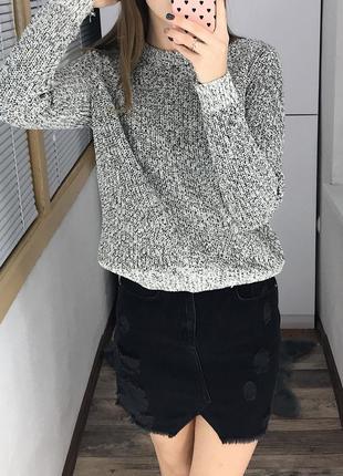 Базовый меланжевый свитер h&m3