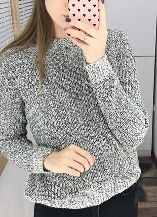 Базовый меланжевый свитер h&m2