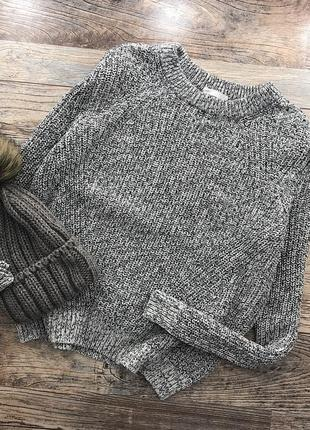 Базовый меланжевый свитер h&m1