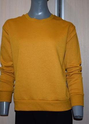 Желтый теплый свитшот1