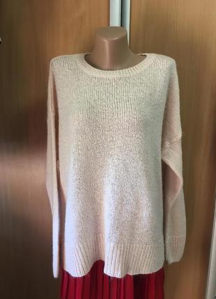 Нежно-розовый свободный свитерок размер 12-141