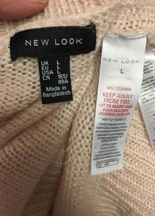 Нежно-розовый свободный свитерок размер 12-144