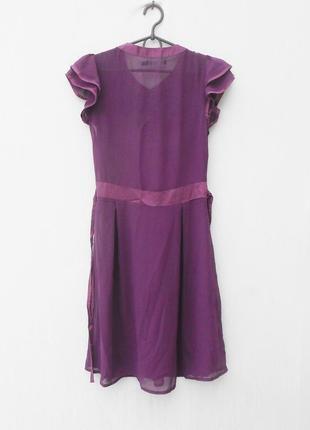 Летнее нарядное шифоновое  платье с рюшей4 фото