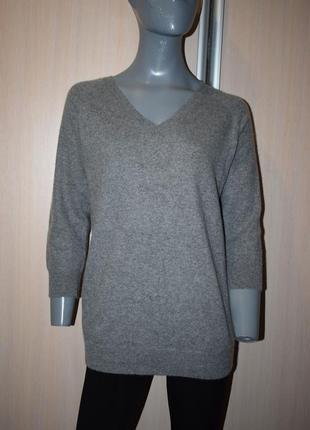 Кашемировый удлиненный свитер1