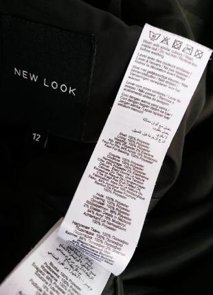 Стильное демисезонное стеганое пальто, куртка  new look с капюшоном и мехо5