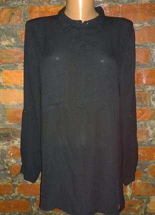 Удлиненная рубашка блуза кофточка george